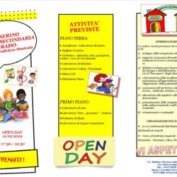 OPEN DAY SECONDARIA I GRADO – Brochure