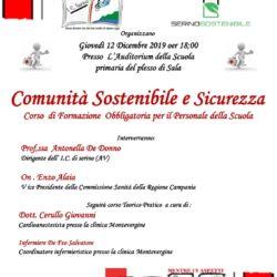 CORSO DI FORMAZIONE COMUNITA' SOSTENIBILE E SICUREZZA